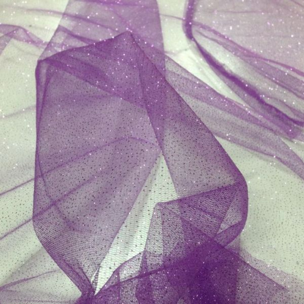 tulle strass viola