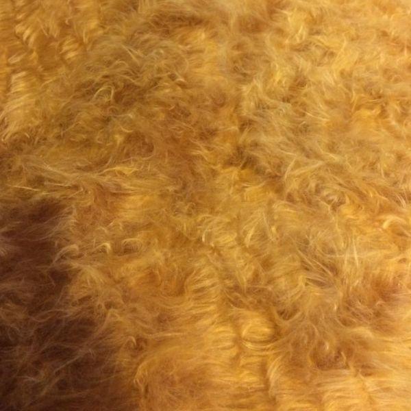 Tessuto Pelliccia Pelo Lungo Beige - Miele Miele prezzo al ...